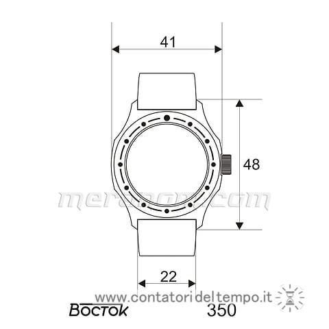 Misure del Vostok Komandirskie 350753