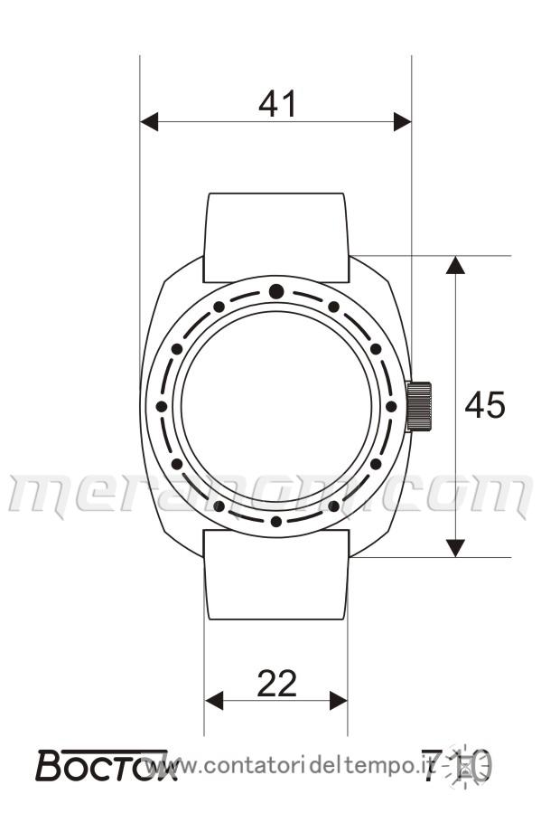Le misure del Vostok Amphibian Classic 710640