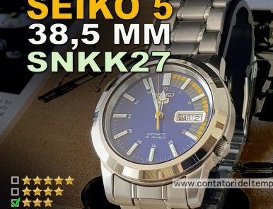 Seiko 5 SNKK27, 38.5 mm