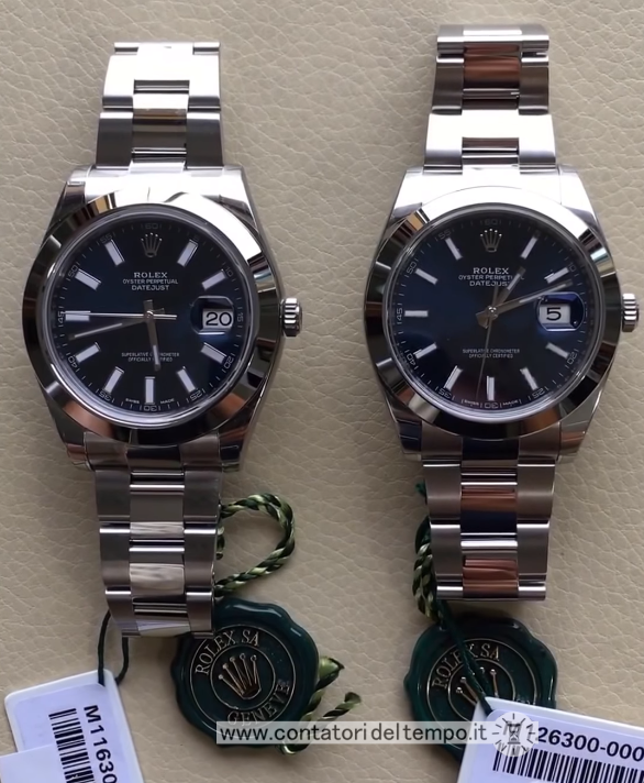 116300 vs 126300. Foto comparativa presa dal web