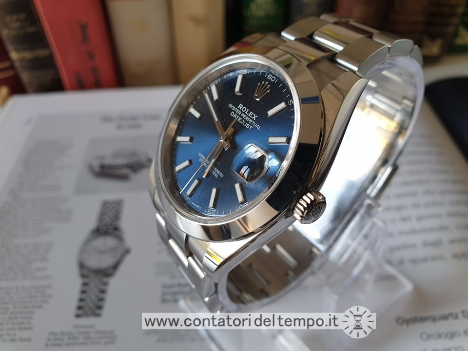 Rolex Datejust 41 referenza 126300 quadrante blu