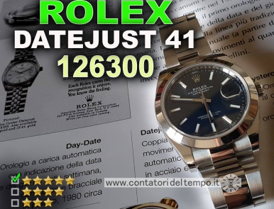 Rolex Datejust 41 referenza 126300