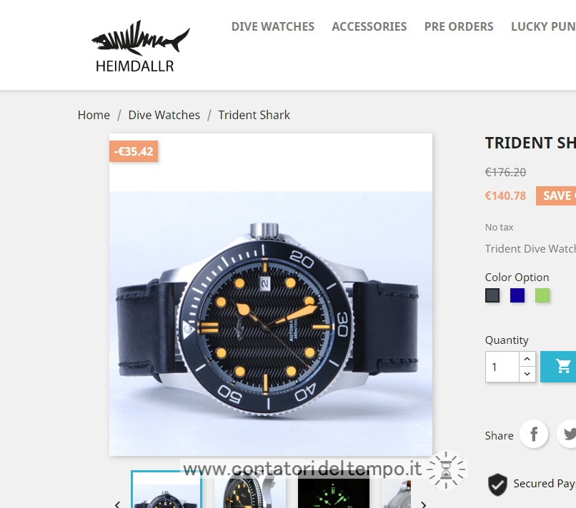 Screenshot del sito web ufficiale heimdallr